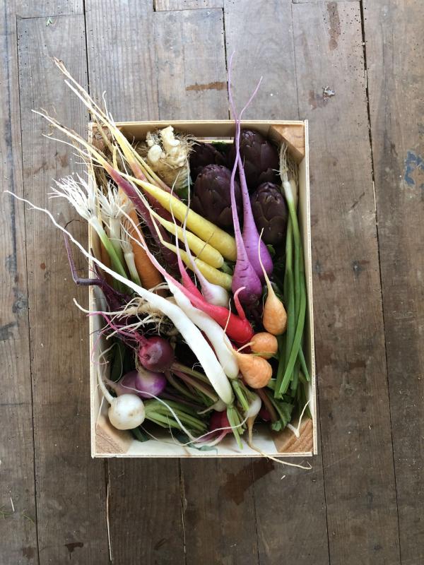 Méli-mélo de mini-légumes du moment - Colis 30x20
